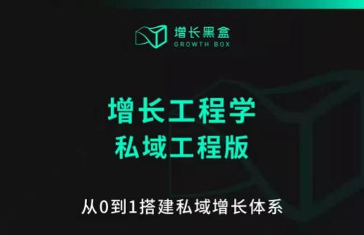 增长黑盒-增长工程学,从0-1搭建私域增长体系