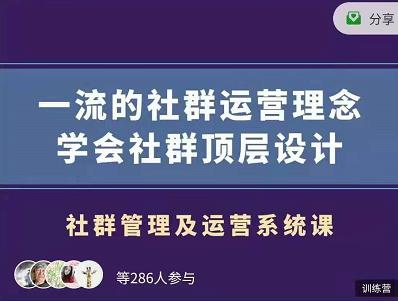 村西边老王:社群管理及运营系统课,价值899元