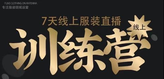 《野鹿传媒徐志么抖音7天线上服装直播练营》价值3580元
